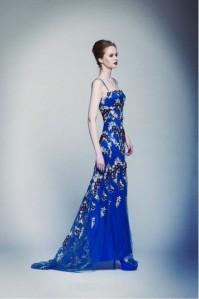blau Abendkleider lang 2013